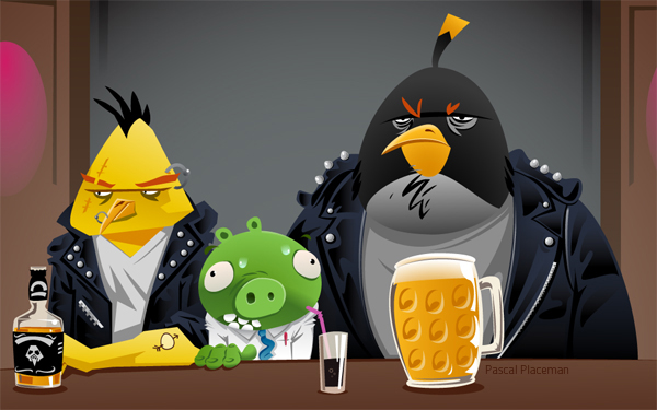 angry bird fan art